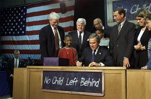 NCLB, No Child Left Behind, standards-based reform, high stakes testing
